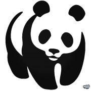 "Panda állat ""2"" matrica"
