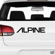 ALPINE felirat - Szélvédő matrica