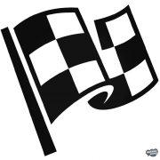 Cél kockás zászló - Szélvédő matrica