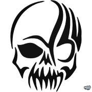 Félelmetes koponya matrica