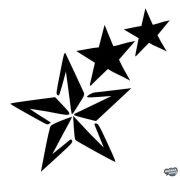 Csökkenő csillag - Szélvédő matrica