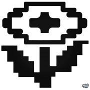 Super Mario 8-bit virág matrica