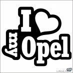I Love My Opel szívvel matrica