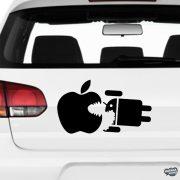 Apple eat Android - Szélvédő matrica
