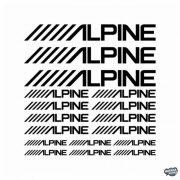 Alpine felirat szett - Szélvédő matrica