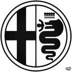 Alfa Romeo embléma matrica 3