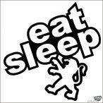 Eat Sleep Peugeot matrica