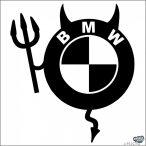 BMW logó pufi ördög matrica
