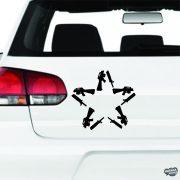 AK47 Csillag - Szélvédő matrica
