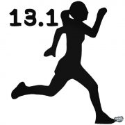 13.1 Félmaraton női matrica