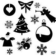 """Karácsonyi díszek """"1"""" szett Matrica (30 cm)"""