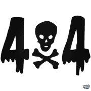 4x4 koponya - Szélvédő matrica