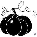 """Halloween tök """"1"""" matrica"""