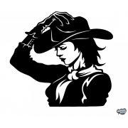 Cowgirl - Szélvédő matrica