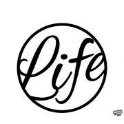 Life írott felirat Autómatrica