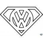 VW Superman matrica