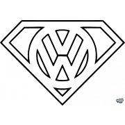 VW Superman matrica