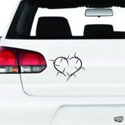 Szögesdrót szív - Autómatrica
