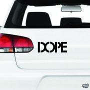 """DOPE """"1"""" felirat - Szélvédő matrica"""